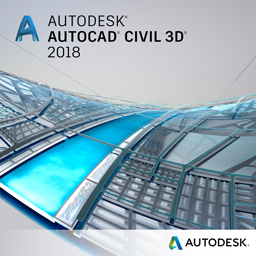 autocad civil 3D 2018 badge 256px
