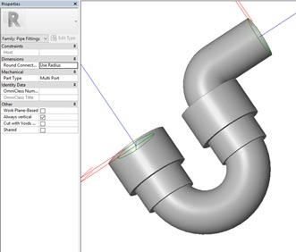 autodesk revit model ptraps pipes waste sink elbow