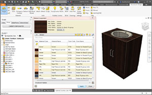 Appling materials with Woodwork for Inventor