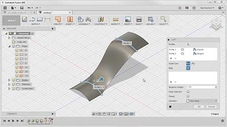 Creating parametric surfaces with Autodesk Fusion 360
