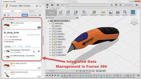 Fusion 360 Integrated doucument management