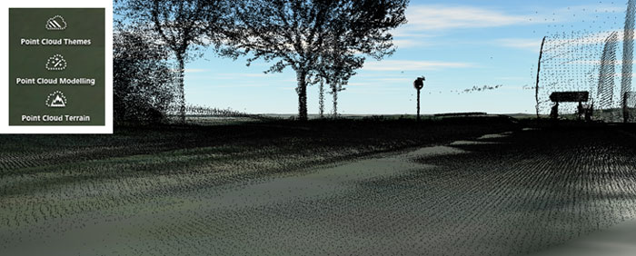 Infraworks360 point cloud modelling