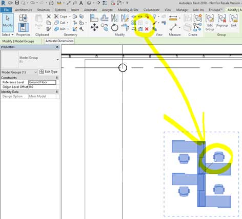 Pin elements in revit