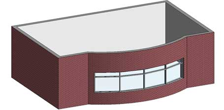 bay window revit architecture finished window