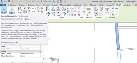 copy to clipboard function revit