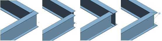 cutback geometry joins structure joints