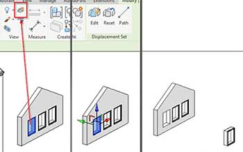 exploded views revit displacement set element tool window exploded