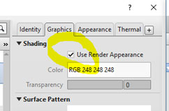 render appearance tickbox