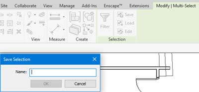 selection options revit multi select tab save