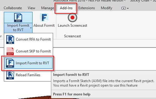 sketchup to revit workflowimport formit to revit