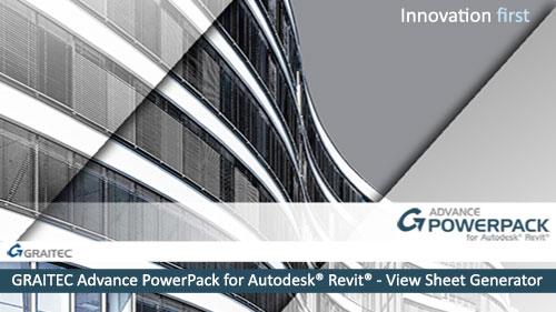 GRAITEC Advance PowerPack for Revit - View Sheet Generator