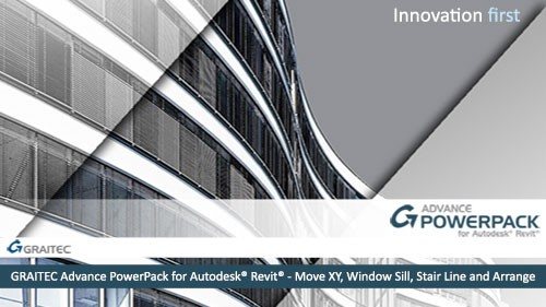 GRAITEC Advance PowerPack for Revit - Move XY, Window Sill, Stair Line and Arrange