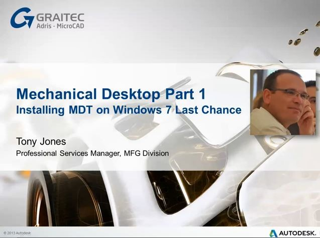 Mechanical Desktop Part 1 – Last Chance to Install for Legacy Use