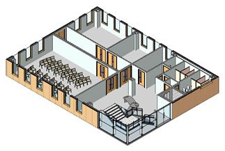 3D section view of floor plan image