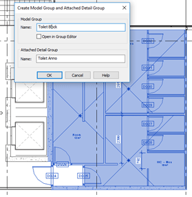 Autodesk Revit Create Model Group and Attached Detail Group
