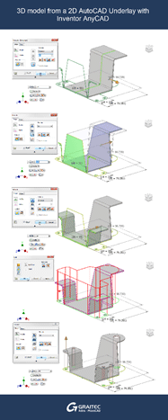 Create a 3D Model in Inventor from a 2D AutoCAD AnyCAD Underlay