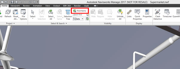 Exporting Navisworks Searches