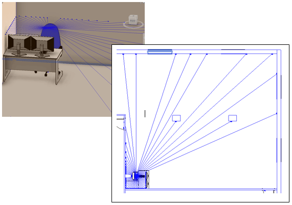Finished Rays in Revit