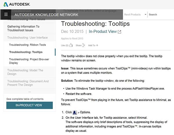 Managing Revit Tooltips and Keytips Troubleshooting