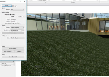 Rendered Grass in Autodesk Revit