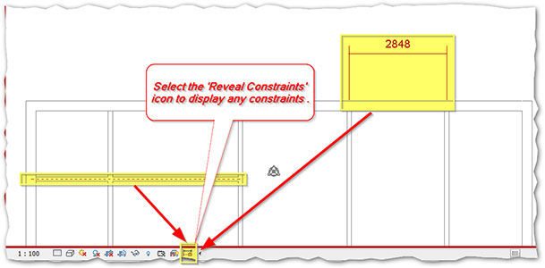 Revit Reveal Constraints Option