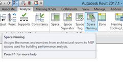 Revit Space Naming Utility Tool