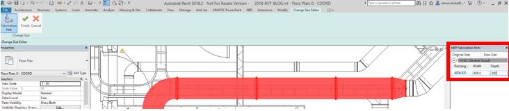 revit 2018.2 resizing fabrications 2