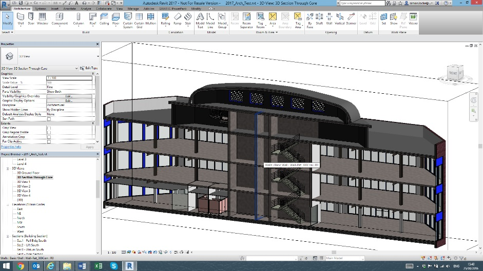 revit 3d sections