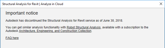 Analyze in Cloud no longer available