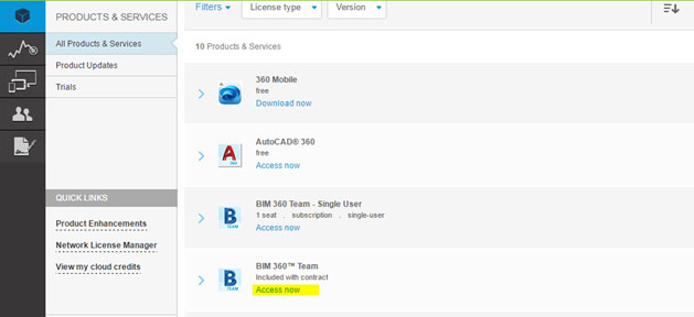 BIM 360 Team seat assignment