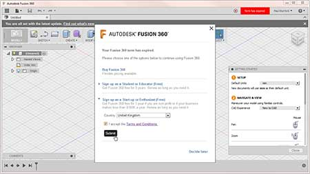 Fusion 360 Second open