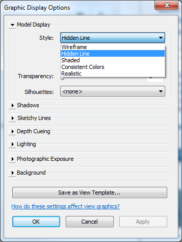 Graphic Display Options Autodesk Revit Cueing