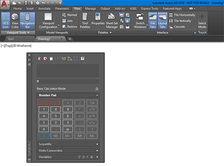 autocad calculator tool