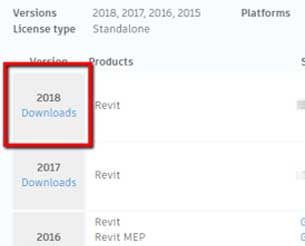 autodesk release 2018 addons versions downloads