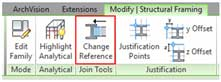 beam alignment revit structure reference change toolbar