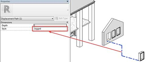 exploded views revit displacement set element jogged