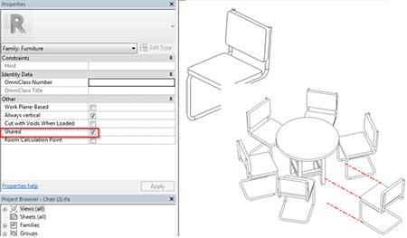 exploded views revit displacement set element nested