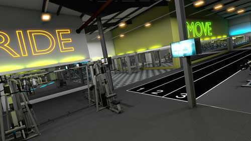 gymworks precor flythrough design visualisation interiors 2