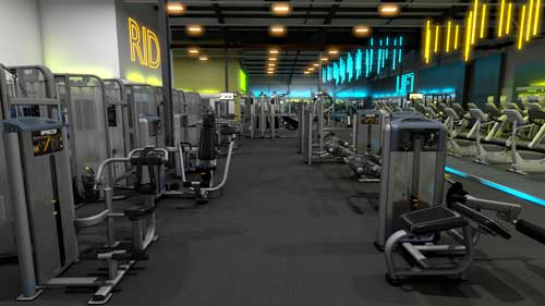 gymworks precor flythrough design visualisation interiors 3