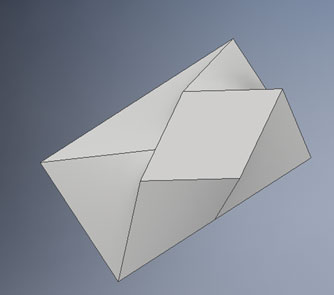 inventor loft diamond sketch example