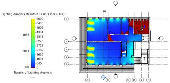 quantitative lighting analysis insight 360 floor view