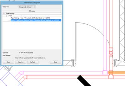 revit clash detection autodesk no interference model