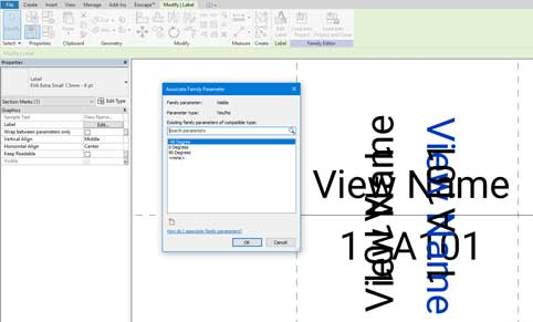 section heads revit flip family parameter