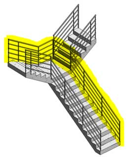 stair railings editing split direction conflict