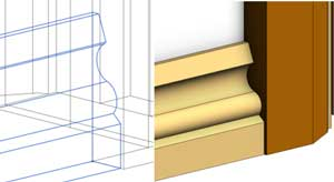 wrapping revit wall sweeps skirting profile wireframe