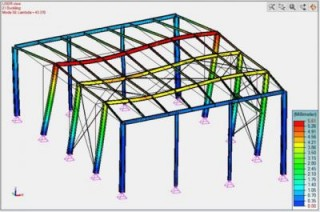 Advance Design: How to Compute the Elastic Critical Load Ratio on a Steel Framework?