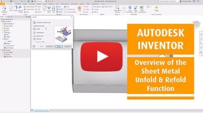 Inventor-Sheet-Metal-Unfold--Refold-Function
