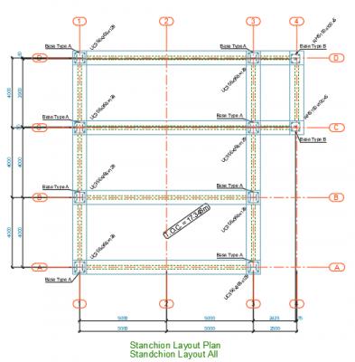 Stanchion-Layout-Plan