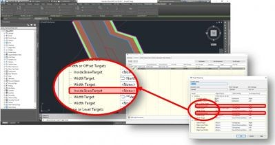 Islands-in-the-road---AutoCAD-Civil-3D-2017-New-Features--Skewed-Targets-and-Baseline-Feature-Lines