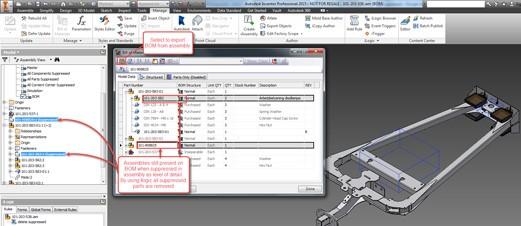 Delete suppressed components in iLogic